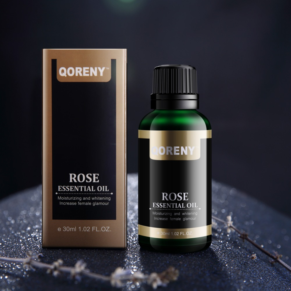 Rose Essential Oil 100% Pure Natural 30ml BEST moisturizer to heal Dry Skin & Fine Lines For Face Skin for Aromatherapy
