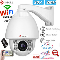 IMPORX High Speed Camera Dome IP Security Camera 20X Zoom 2MP Wireless Camera HD IR 150M Infrared Night Vision CCTV Surveillance