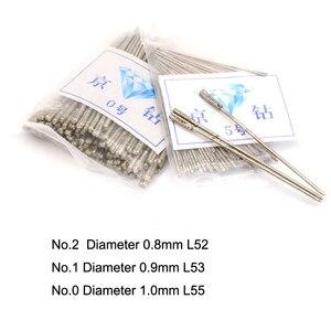 Image 3 - 20 piezas broca con revestimiento de diamante duradero, 1 ~ 2,3mm, puntas de aguja de color sólido para joyería, cerámica, Jade, ágata, vidrio, ámbar