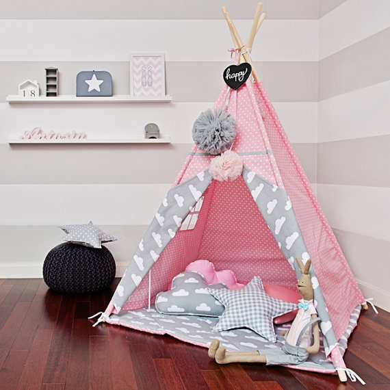 YARD Children Baby Play Game House Kids Princess Foldable Playhouse Tent Indian Baby Tent mrpomelo children indoor indian teepee play house solid blue garden game playhouse 100