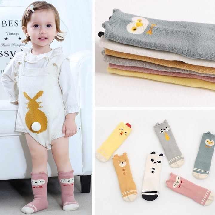 0-4Year Mùa Đông Siêu Ấm Độ Dày Terry Bông Đầu Gối Cao Bé Girl Boy Socks Kids Trẻ Em Động Vật Dễ Thương Chống trượt Khăn Chân Sox