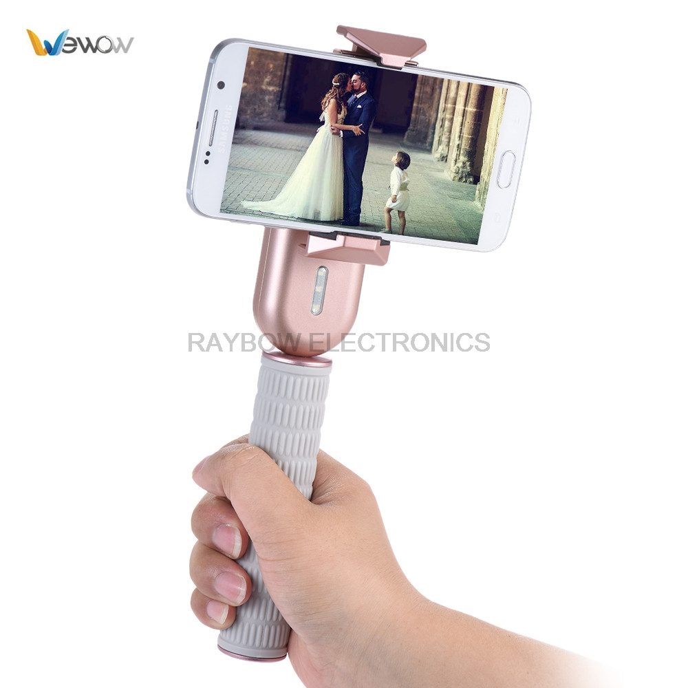 Wewow Fancy 1-Axis Handheld Gimbal smartphone stabilizers for iphone stabilizer for Live Show Selfie Video x cam sight2 2 axis smartphone handheld stabilizer mobile phone brushless gimbal with bluetooth for iphone samsung xiaomi nexus