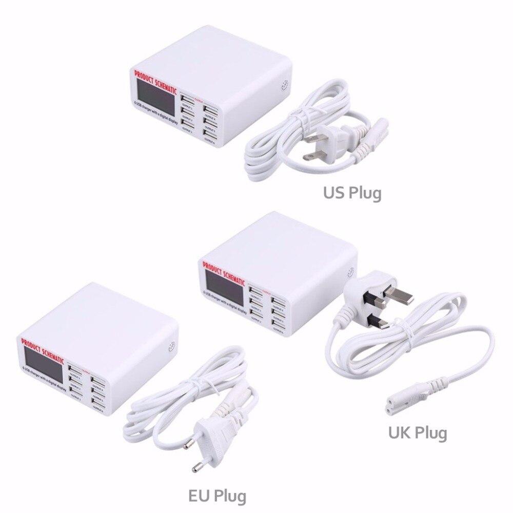 Φορτιστής USB INGMAYA 6 ακροδεκτών LCD - Ανταλλακτικά και αξεσουάρ κινητών τηλεφώνων - Φωτογραφία 6
