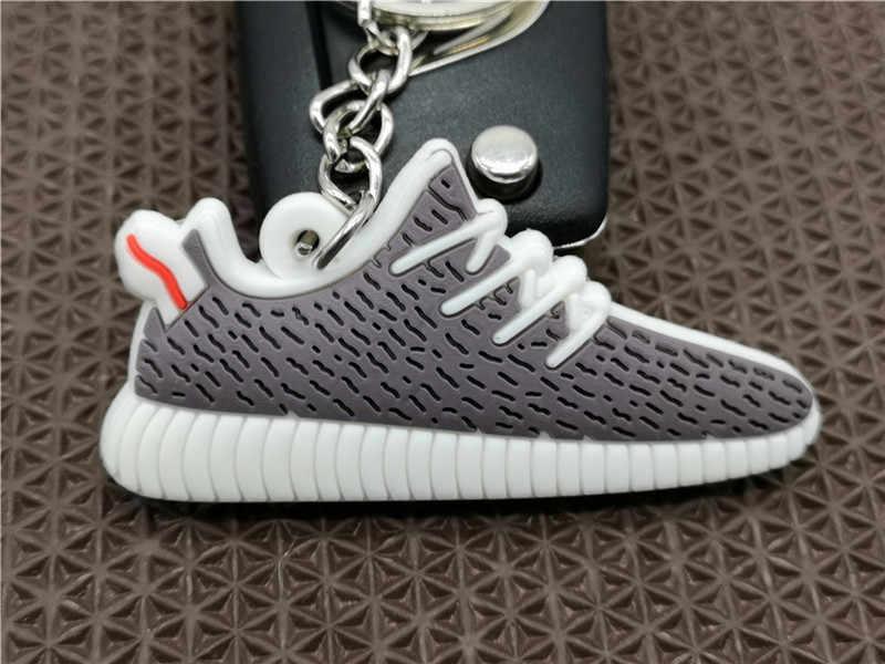 Bán Dễ Thương Mini Silicone 350 Giày Móc Khóa Túi Quyến Rũ Người Phụ Nữ Nam Trẻ Em Móc Khóa Quà Tặng Giày Sneaker Chìa khóa Jordan giày Dây Chuyền Chìa Khóa