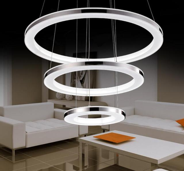 Simple modern pendant lights led restaurant living room ring shaped simple modern pendant lights led restaurant living room ring shaped office lamp stylish atmosphere dining room aloadofball Image collections