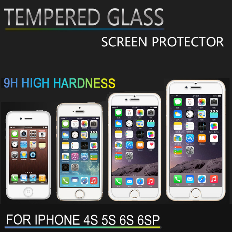 0.3mm 9H Ultra Thin Tempered Glass For iPhone 6 6s Plus 4 4s 5 5s 6+ 2.5d Screen Protector for iPhone 6 Plus