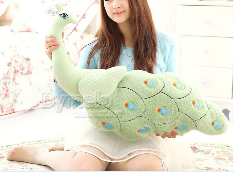 big creative  beautiful peacock toy lovely light green peacock pillow doll gift about 80cm 0591