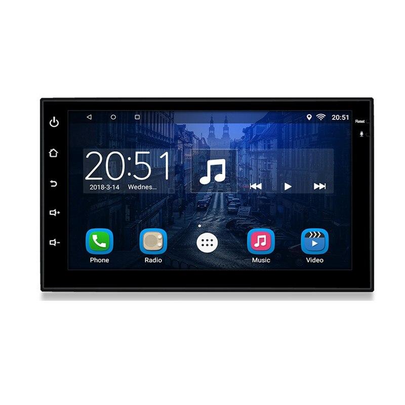 7 Android Rádio Do Carro Universal Suporte função de telefone móvel Da Apple MP5 Player Do Carro de navegação GPS