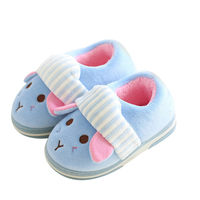 Kids Slippers Animal Cotton Dog Slippers Winter Warm Plush Baby Home Slippers Boys Girls Toddler Shoes