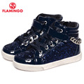 FLAMINGO 2016 new collection autumn/winter fashion kids boots high quality anti-slip kids shoes for girls W6YG012