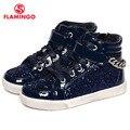Flamingo 2016 nueva colección otoño/invierno moda niños botas de alta calidad antideslizante zapatos de los niños para las muchachas w6yg012