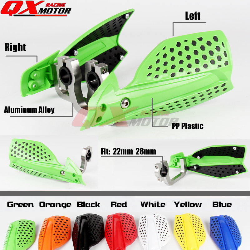 Motorcycle Hand Guards For Kawasaki KX KXF KLX 85 125 140 150 250 450 Dirt bike Motocross Enduro Supermoto Free shipping motorcycle leather soft anti slip seat cover for kawasaki kx125 kx250 kx 125 250 1994 1995 1996 1997 1998 motocross dirt bike