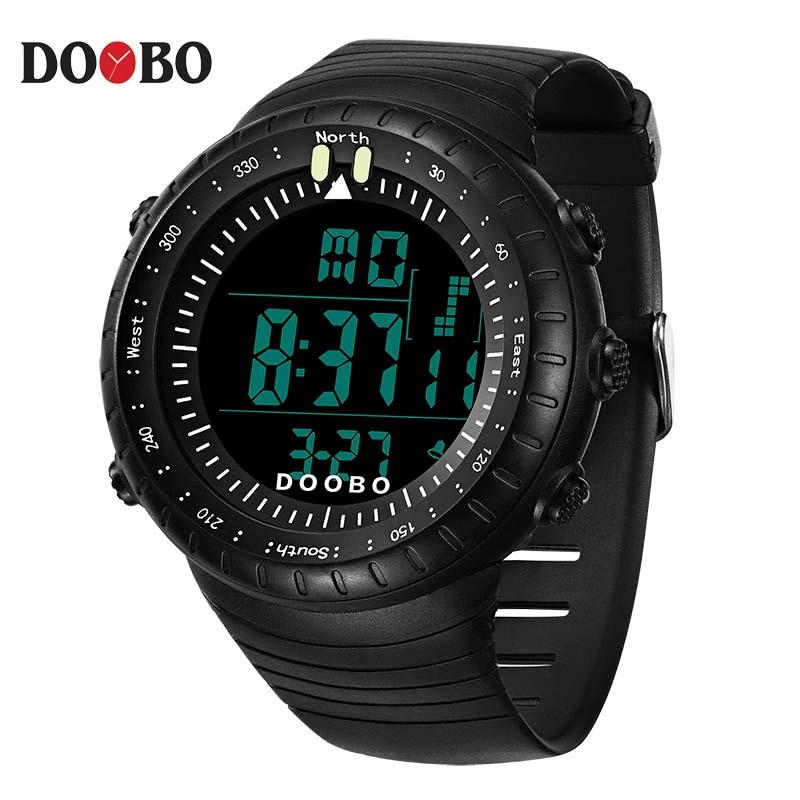 DOOBO Brand Men's Watches LED Digital Watch Men Wrist Watch Black Alarm 50m Waterproof Sport Watches For Men Relogio Masculino цена и фото