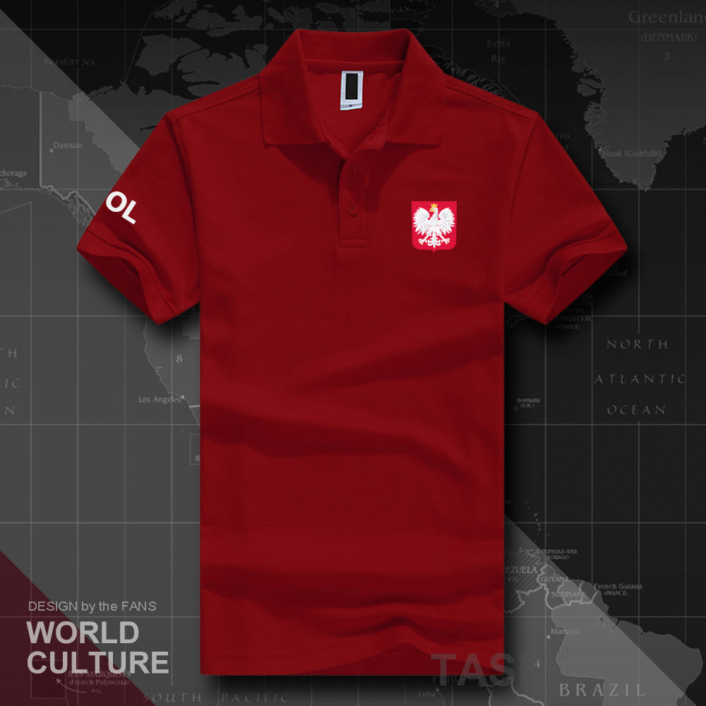 Republic Of Poland POL Polo Shirts Men Short Sleeve White Brands Printed For Country 2018 Cotton Nation Emblem New Fashion