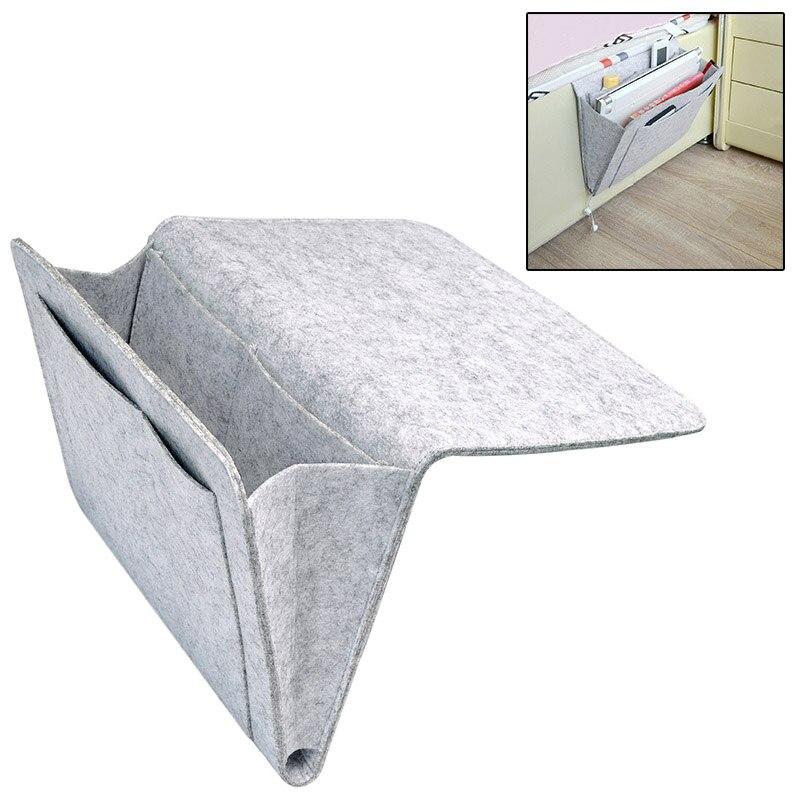 Bedside Storage Bags Felt Home Sofa Desk Storage Organizer with Pockets Phone Magazine Holder