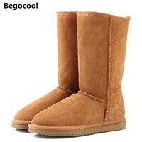Begocool Fur Snow Boots Women 2017 Top High Quality Australia Boots Button Winter Boots For Women