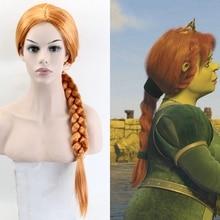 Morematch Fiona парики длинные прямые косплей парик Оранжевый 60 см синтетические волосы для женщин