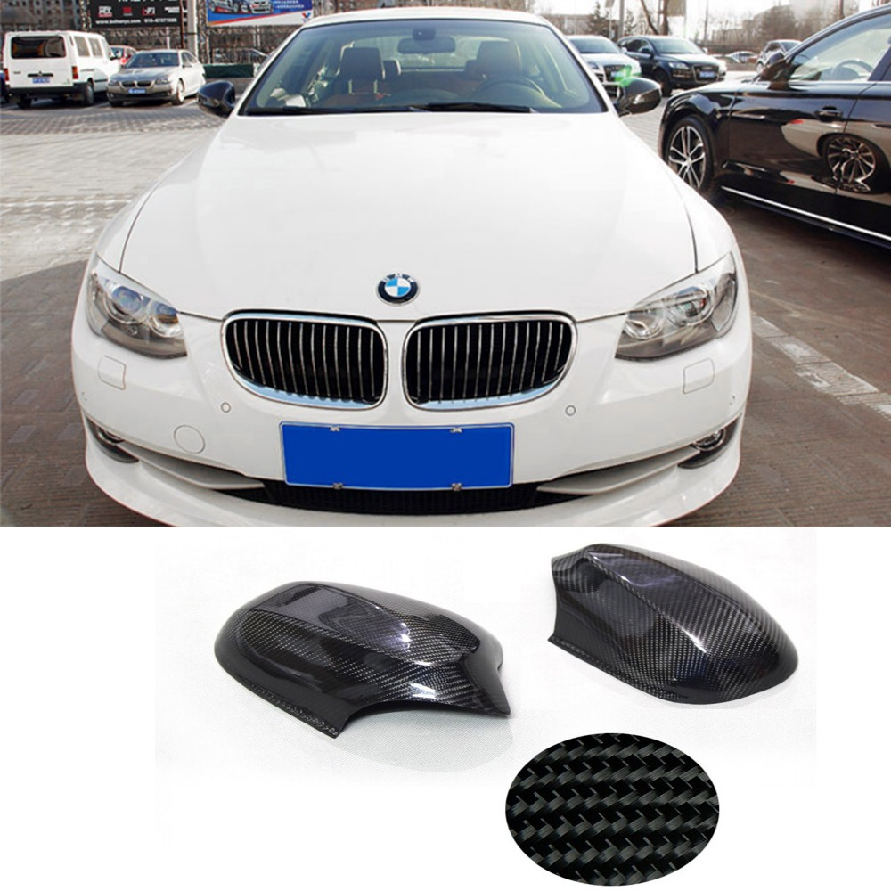 E92 Carbon Fiber Car tuning side wing mirror cover for BMW 2010-2013