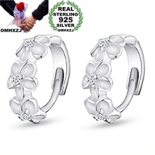 OMHXZJ wholesale International quality certification Fashion jewelry flowers AAA zircon 925 sterling silver Stud earrings YS05