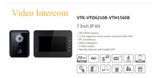 Free Shipping DAHUA Video Intercom 7 Inch IP Kit Support Mobile APP HD CMOS camera Without Logo VTK-VTO6210B-VTH1560B