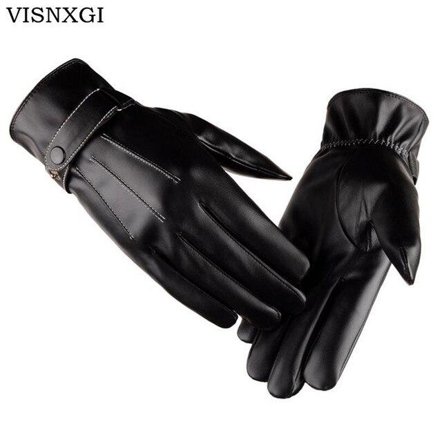 Visnxgi Новинка 2018 г. Модные PU унисекс Зимние перчатки Для женщин Для мужчин коснулся варежки осень-зима пара Drving перчатки, варежки Guantes