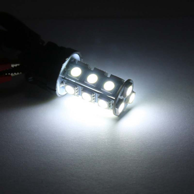 Image 4 - 10X Super Bright White 3157 3156 18 SMD LED Tail Brake Running Light Car Led Light Bulbs T25 4114 Turn Signal-in Car Headlight Bulbs(LED) from Automobiles & Motorcycles