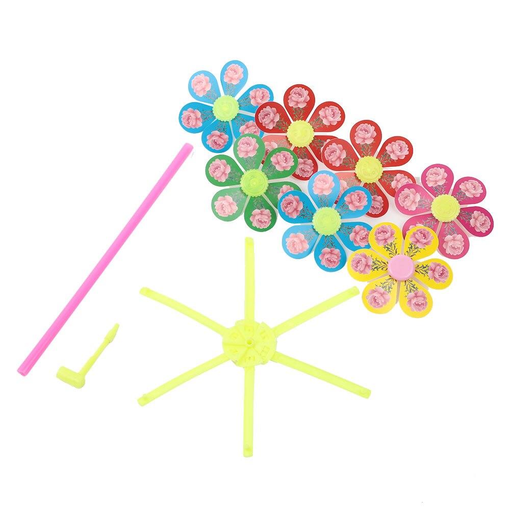 Пластиковая DIY Детская ветряная мельница, Цветочная ветряная мельница, ручная игрушка, возможность начала, забавная игрушка на открытом воздухе, развлечение, маленькая ветряная мельница для детей