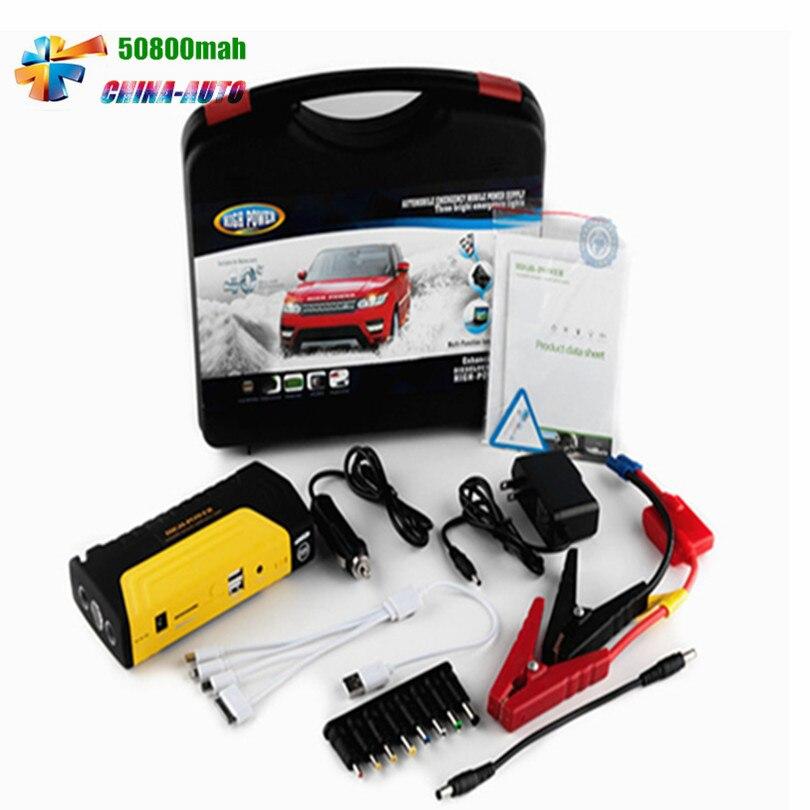 La plus chaude vente 12 V d'urgence voiture saut démarreur puissance batterie chargeur essence voiture batterie externe pour Multi fonction