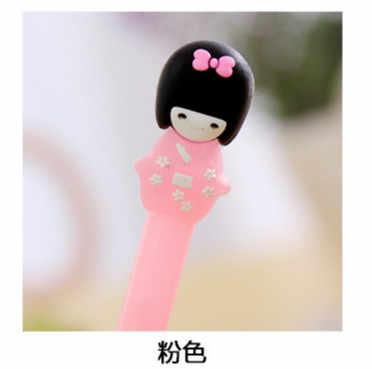 1 Pcs South Korea เครื่องเขียน Jelly สี Kimono สาวน่ารัก Neuter นักเรียนเครื่องเขียนปากกาสีดำ Felt-TIP kawaii