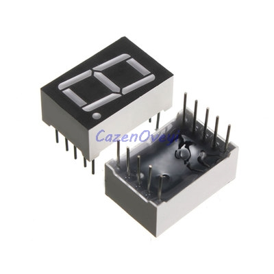 5pcs/lot 7 Segment 0.56 In Common Cathode 1 Bit Digital Tube 0.56