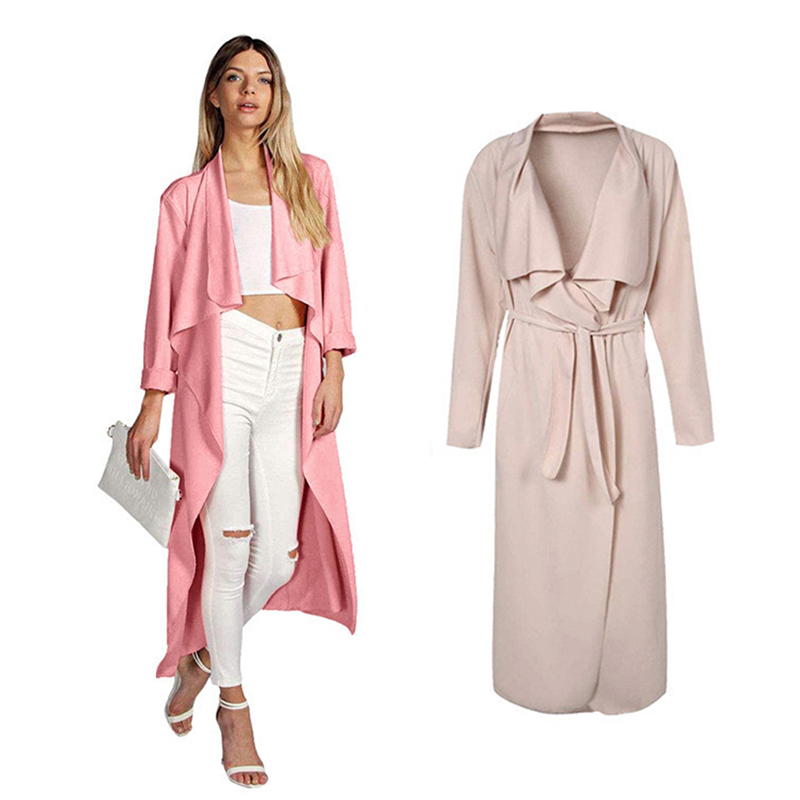 Womens   Trench   Coat X-Long   Trench   Coats For Women Long Coat Sash Turndown Collar British Style Clothing Female Windbreaker