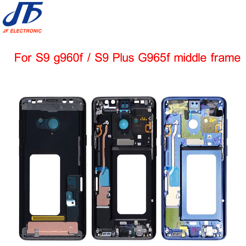 5Pcs lot For Samsung Galaxy S9 S9 Plus G960f G965F Housing LCD Display Middle Frame Midframe