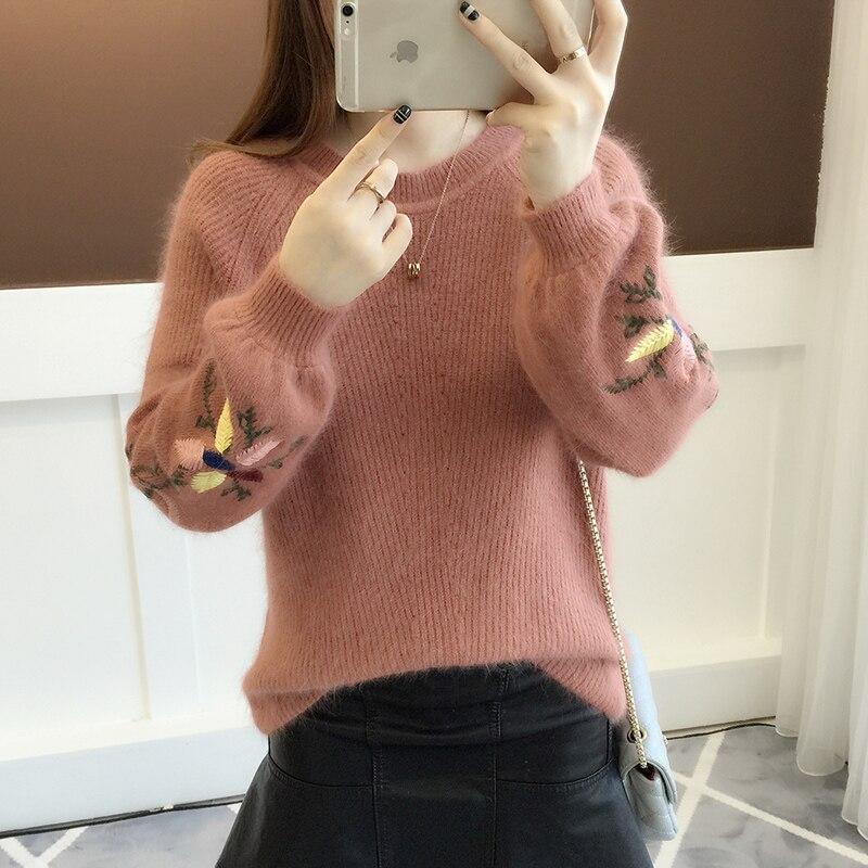 Manches Style Tricoté Lanterne À Coréenne corail Rouge Femmes Longues Chandail jaune Pull kaki Nouveau bleu Version Beige Lâche 2018 qxpXfz1