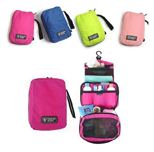 Vacation Travel Portable Cosmetic Storage Bag For Toiletry Bags Zipper Organizer Sorting In