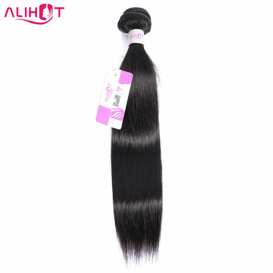 Ali Hot Peruvian Straight Human Hair 1 Piece Hair Weave Bundles 8-28inch Natural Color Free Shipping Remy Hair