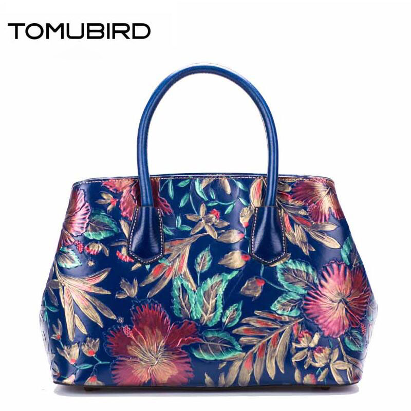 Original national wind leather ladies handbag 2017 spring of the new Chinese wind hand font b