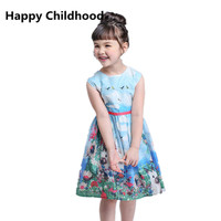 2017 Summer/Spring Bunny Girls Dress 1pc Rabbit Baby Girls Clothes kids princess dresses for girls cartoon toddler girl clothing