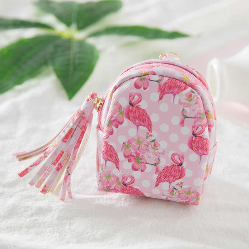 Fantasia & Saco de Fantasia venda Quente Flamingo Chaveiro Em Forma de Bolsa Da Moeda Com Zíper Carteira Pequena Bolsa Chaveiro Bolsa Pingente de Jóias