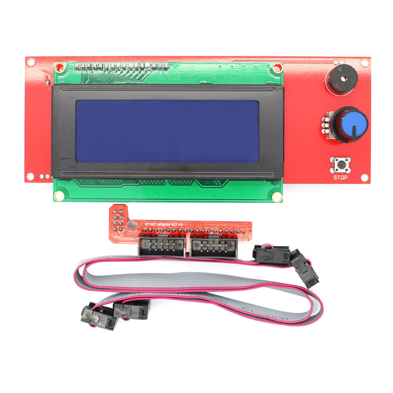 New Arrival 3D Smart Printer Kit LCD Control Panel 2004 Motherboard Display Monitor Blue Screen