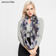 New Style Real Rex Rabbit Fur Scarf Womens High Quality Soft Warm Winter Shawls Best Gift S7097B