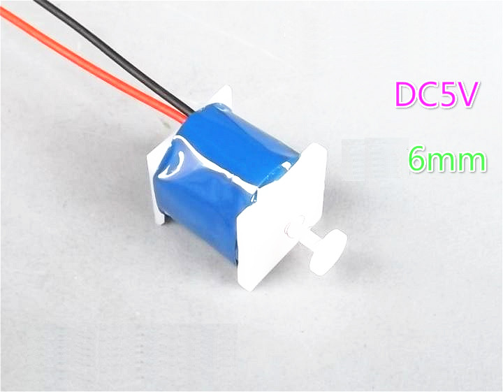 1pcs DC 5V 6mm Push Pull Type Electromagnet Magnet Solenoid For DIY Accessories dc 12v 1 71a 700gf 6mm push type solenoid electromagnet ikejy