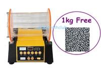 Jewelry tools Rotary Rock Tumblers + (FREE) 1kg Round Beads , Jewelry Polishing Machine , Rotary Polishing Tumbler