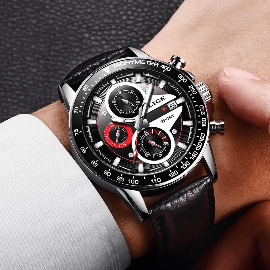 HTB1QeogMNnaK1RjSZFBq6AW7VXa1 LIGE Fashion Men Watches Male Creative Business Chronograph Quartz Clock Stainless Steel Waterproof Watch Men Relogio Masculino