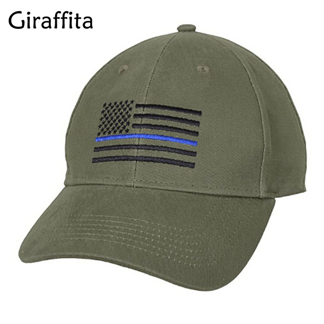 Giraffita 2017 American Flag Profile Tactical Hats For Police Law  Enforcement Back the Embroidered Cap 2 colors 74273a84a06