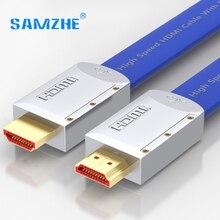 Samzhe 3d 2 К * 4 К hdmi2.0 плоский кабель hdmi2.0 кабеля мужчина к мужчине hdmi2.0 кабель 18 гбит speed hdmi 2.0 видео кабель для hdtv ps3/4