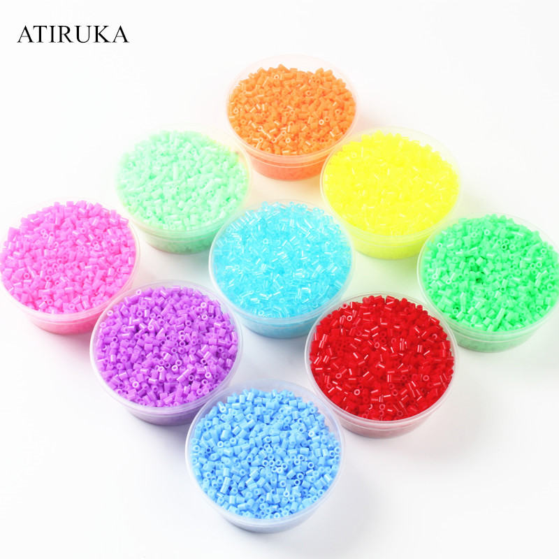 2.6MM Hama Beads 3D Puzzle Toys For Children Zabawki 72 Colors Educational Toys Puzzles For Adults Brinquedo 500Pcs/Bag