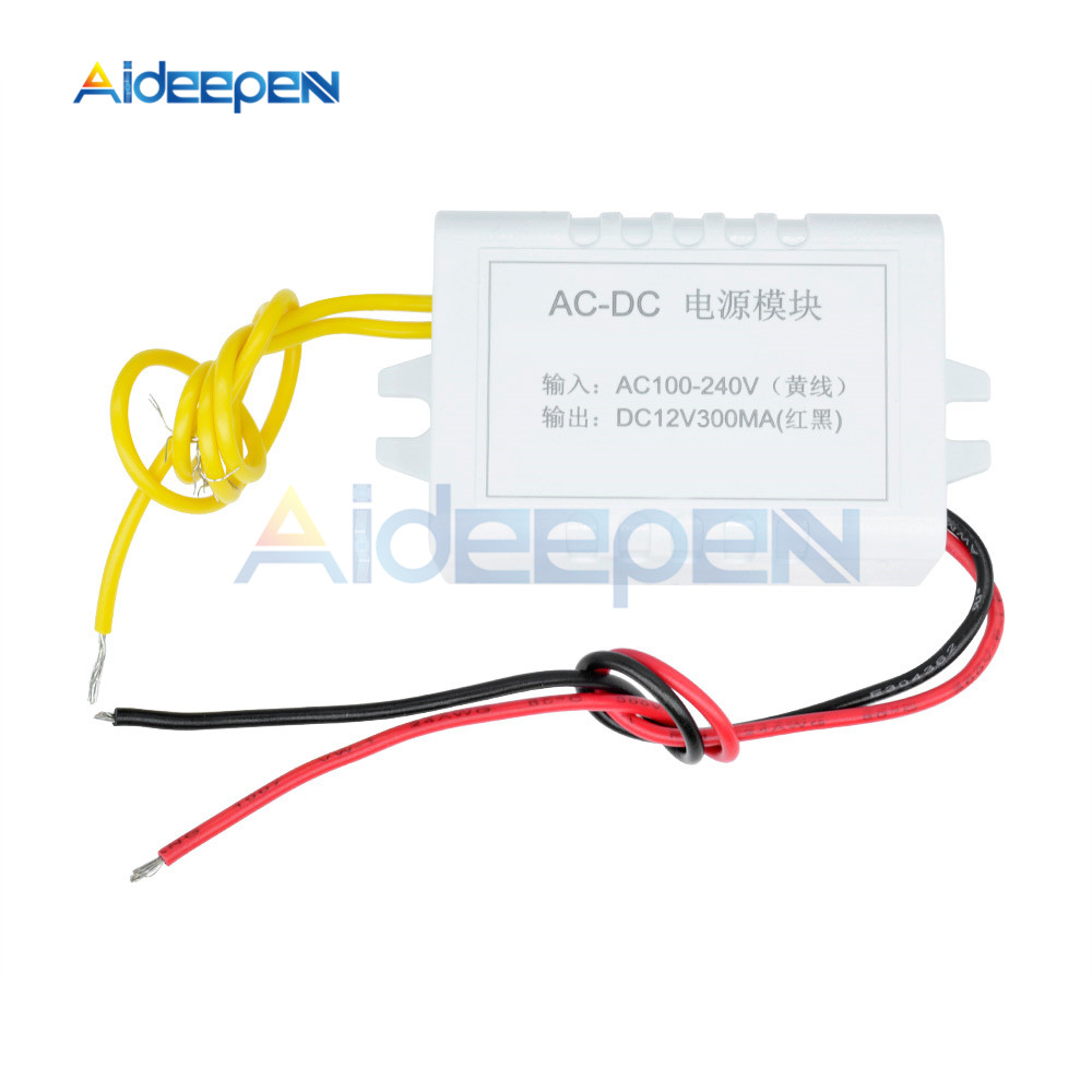 <font><b>AC</b></font> 110V-220V to DC <font><b>12V</b></font> Converter <font><b>Adapter</b></font> <font><b>12V</b></font> 1A Power Supply Module DC 300MA for Thermostat image