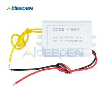 AC 110 V-220 V a DC 12V Adaptador convertidor 12V 1A fuente de alimentación módulo DC 300MA para termostato
