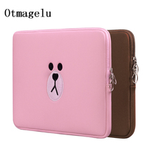 New Brown Bear Sleeve Case Laptop Bag For Macbook Air Pro 11.6 13.3 15.4 Inch Computer Bag For Apple Notebook Pro Drop Shipping