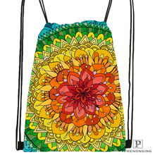 Custom magnificent_mandala_ @1Drawstring Backpack Bag Cute Daypack Kids Satchel (Black Back) 31x40cm#180612-02-26